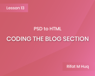 Lesson 13: Coding the Blog Section
