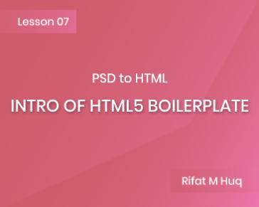 Lesson 7: Intro of HTML5 Boilerplate