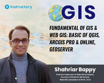 Fundamental of GIS & Web GIS: Basic of QGIS, ArcGIS Pro & Online, GeoServer
