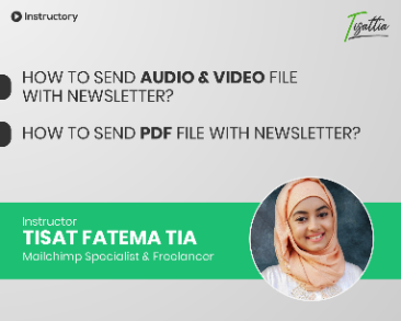 How to send audio, video & pdf file with newsletter
